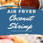 Coconut shrimp with Thai chili sauce for dipping.