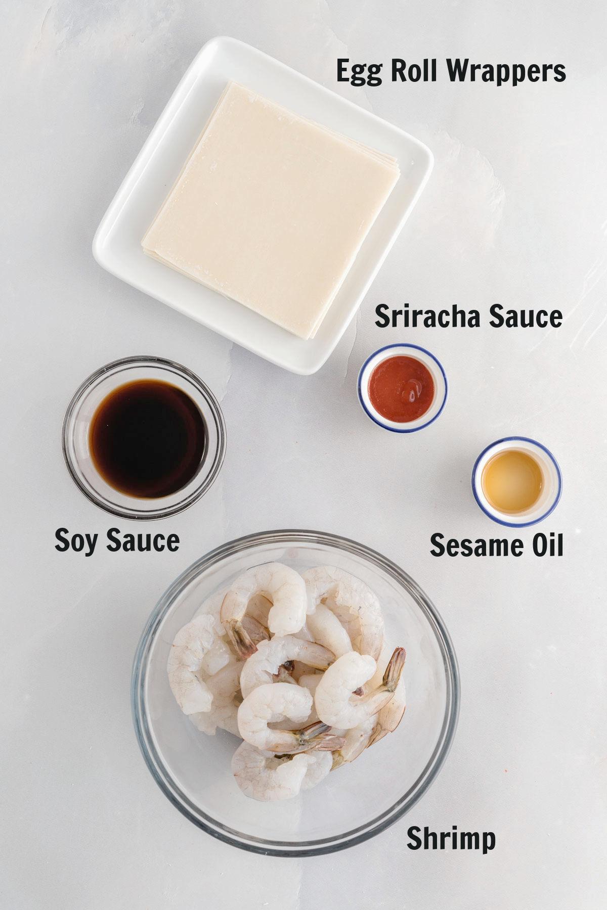 Ingredients for firecracker shrimp.